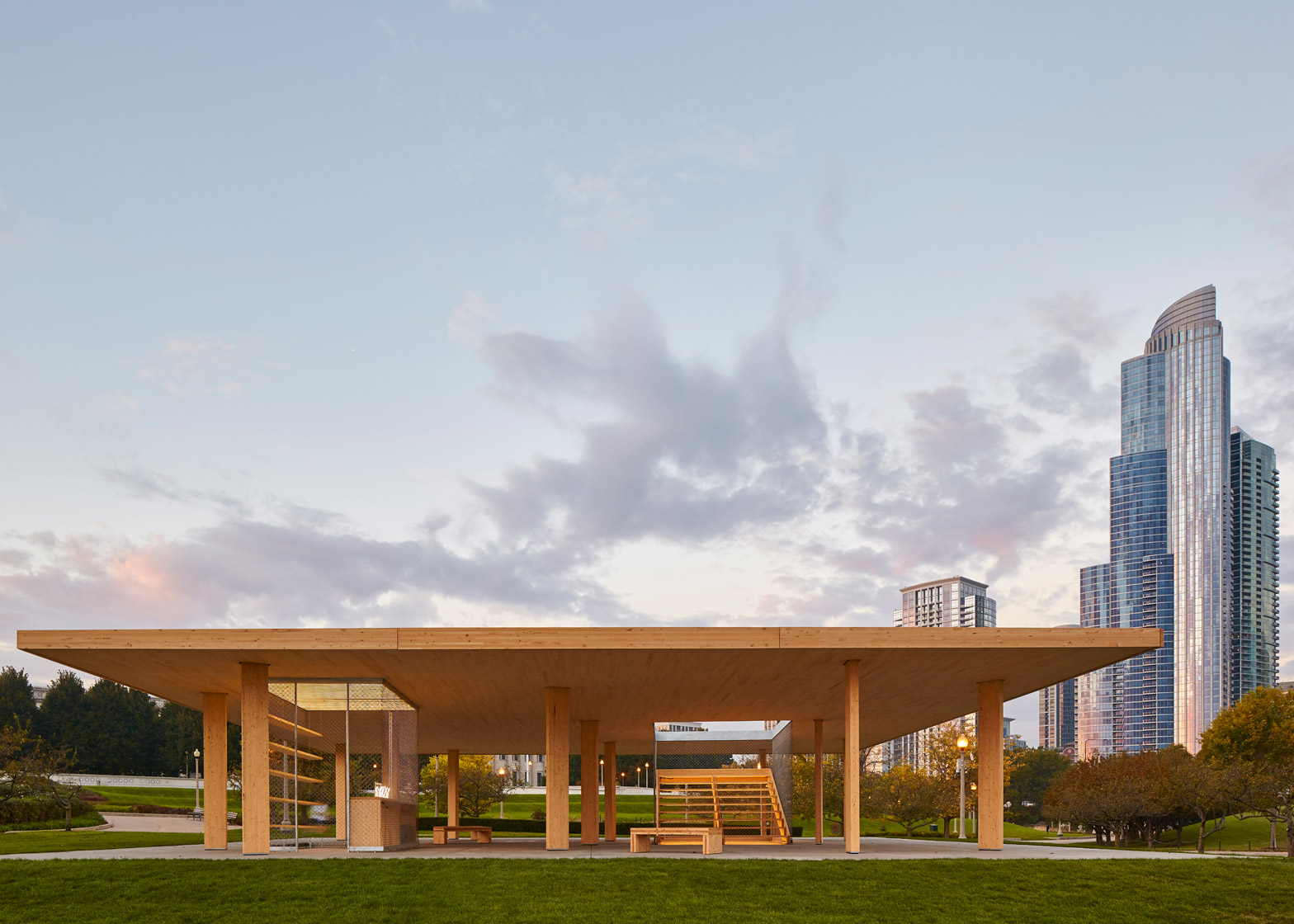 Lakefront Kiosk by Ultramoderne for the Chicago Architecture Biennial 2015