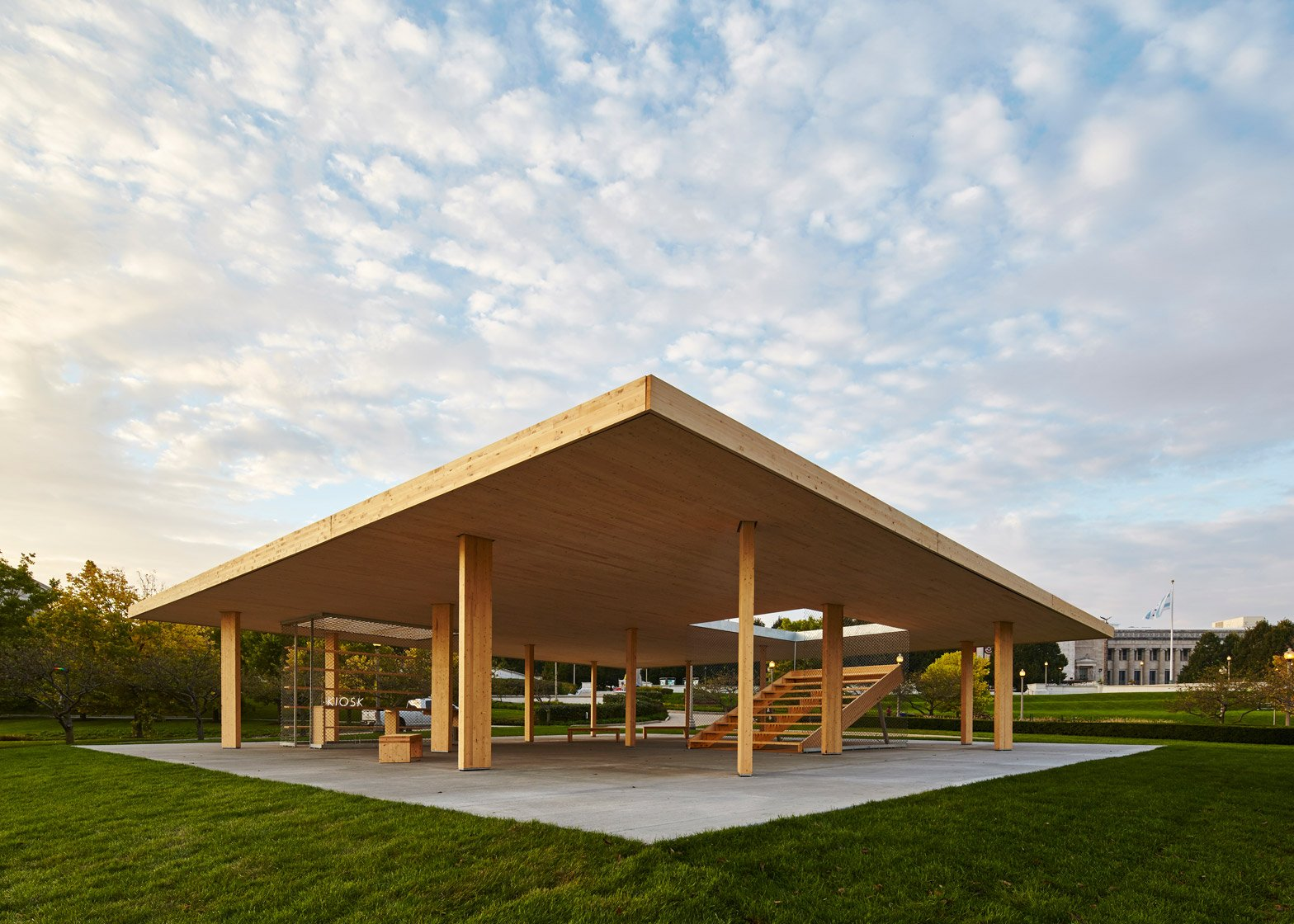 3 of 9; Lakefront Kiosk by Ultramoderne for the Chicago Architecture Biennial 2015 : lakefront roofing - memphite.com