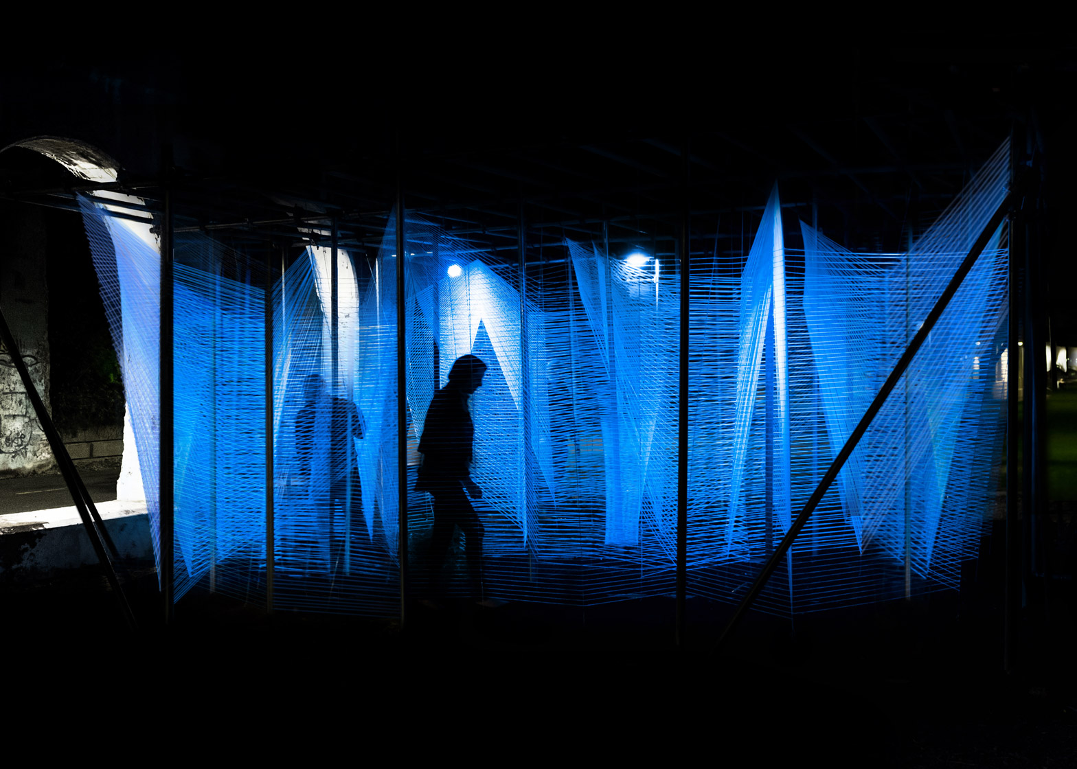 Lasermaze installatio in Detroit by George King Architects