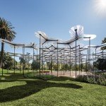 Amanda Levete's tree canopy-like MPavilion opens in Melbourne