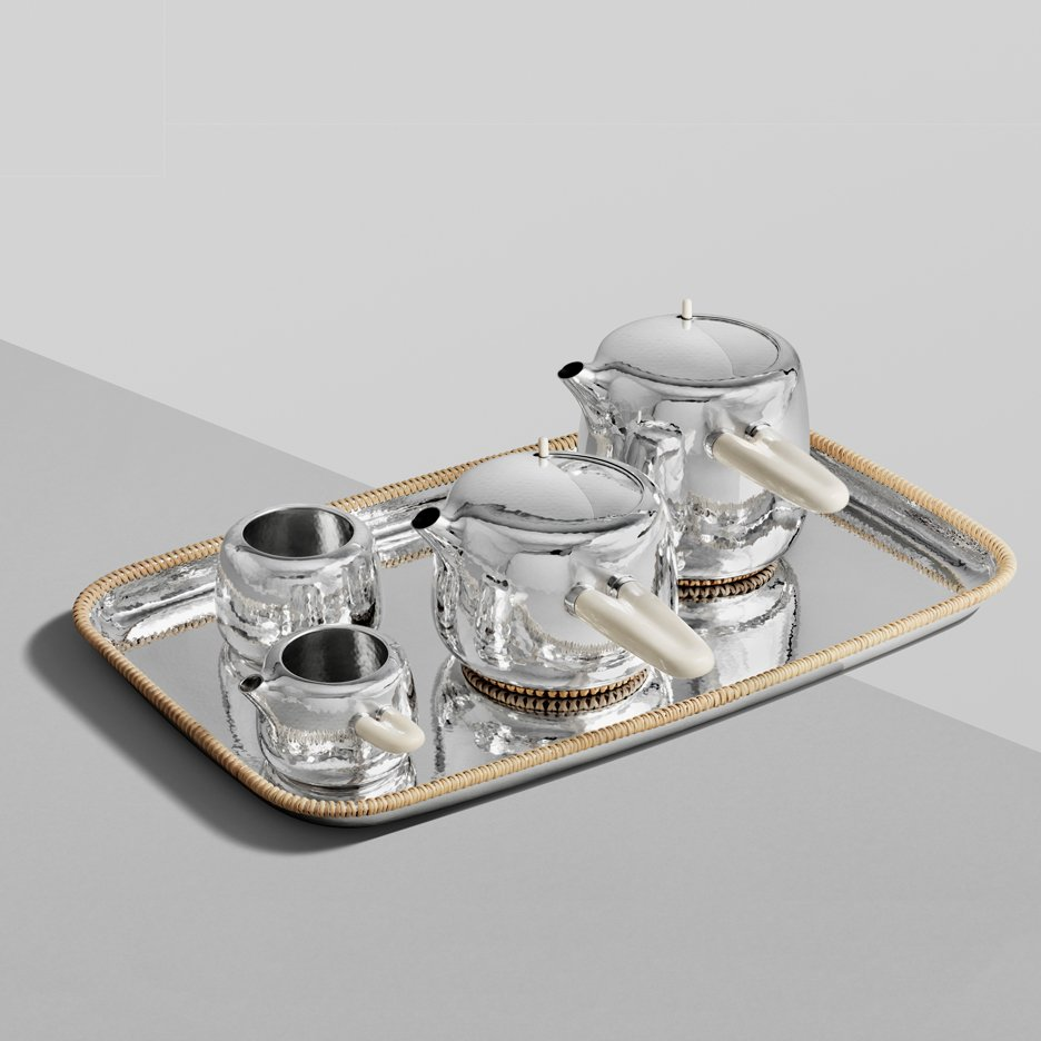 Marc Newson designs £82,000 silver tea set with mammoth-ivory handles for Georg Jensen