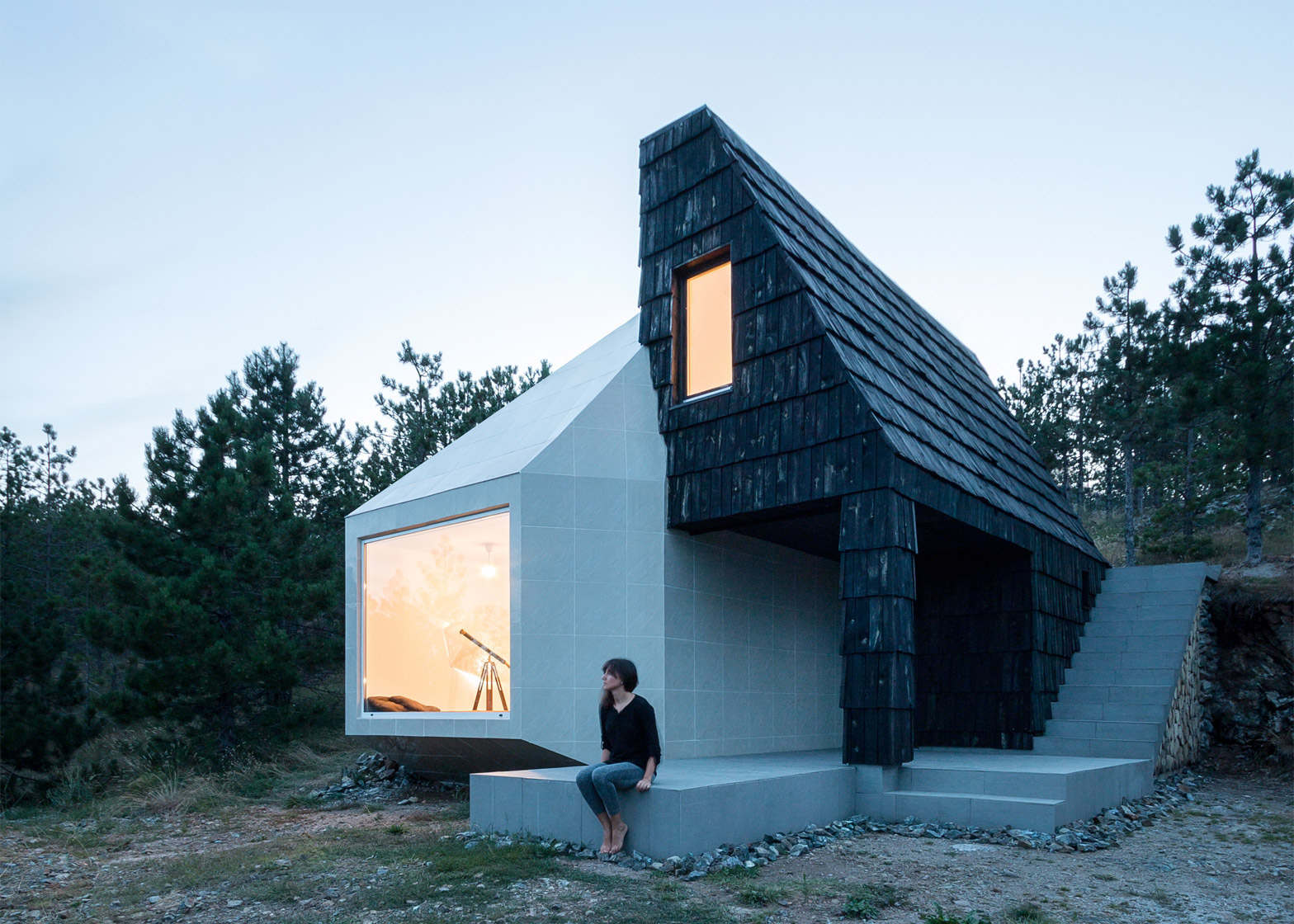 A mountain dwelling in western Serbia by EXE Studio