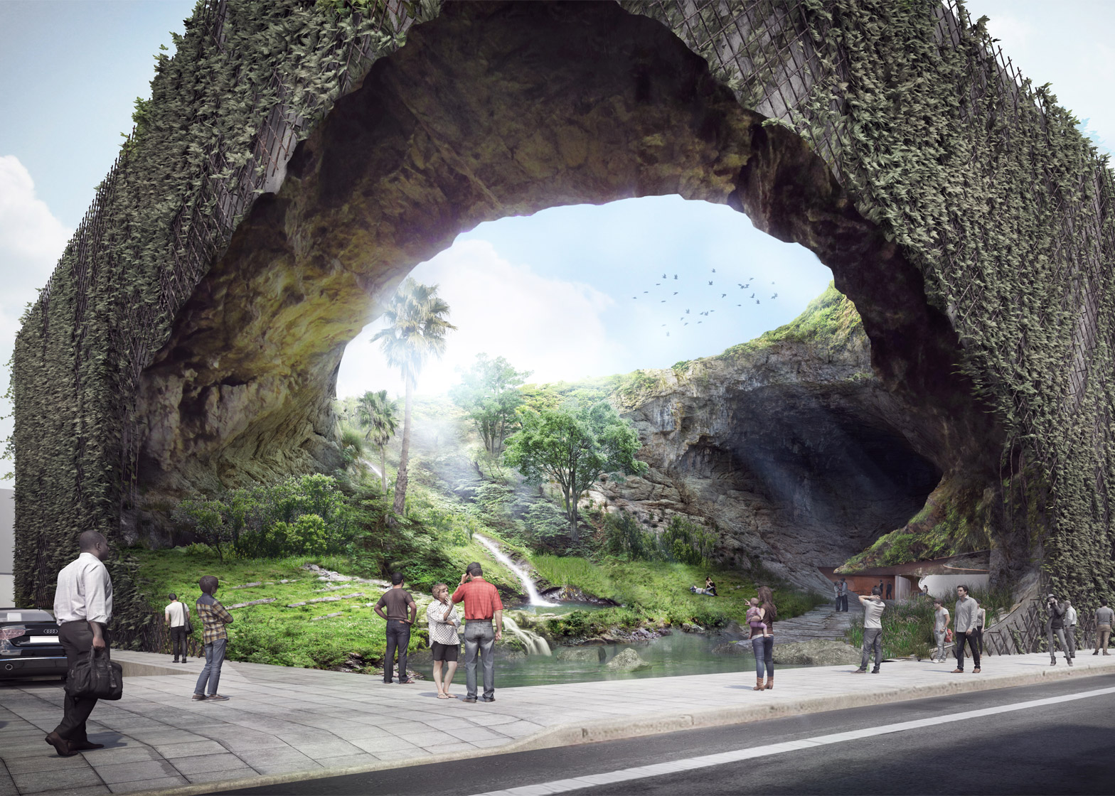 Cave-shaped and plant-covered museum by Kengo Kuma is dedicated to Filipino history