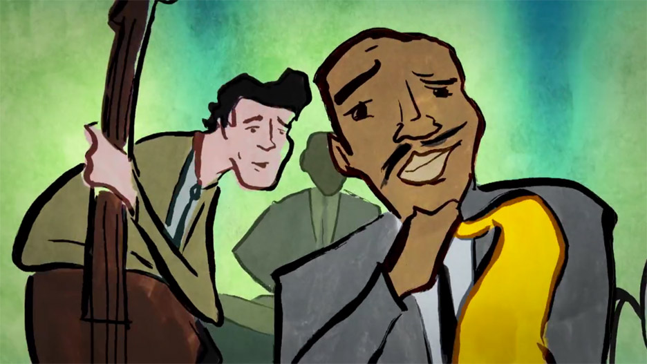 Danny Madden animates a vintage jazz club for David Gilmour's music video
