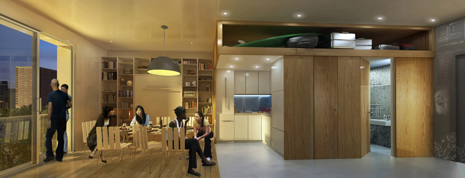 My Micro NY apartment building by nArchitects