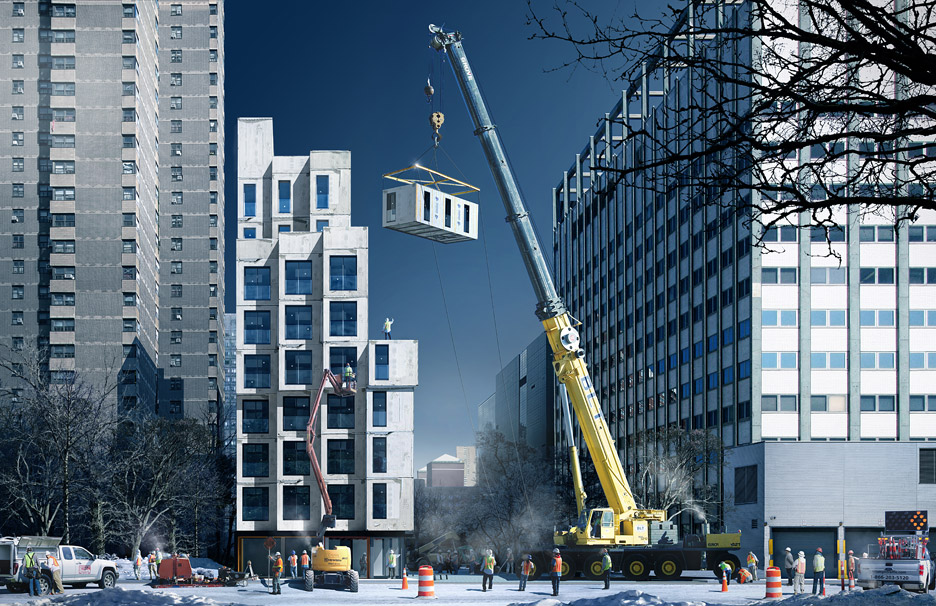 New York\'s first micro-apartment building nearing completion