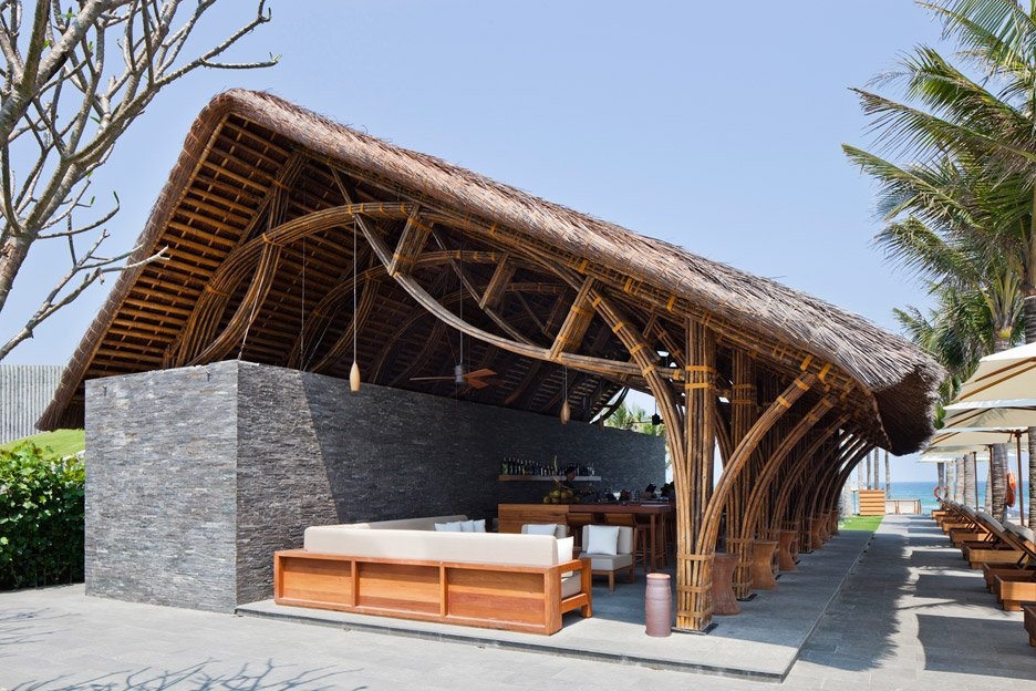 Naman Retreat Beach Bar by Vo Trong Nghia Architects