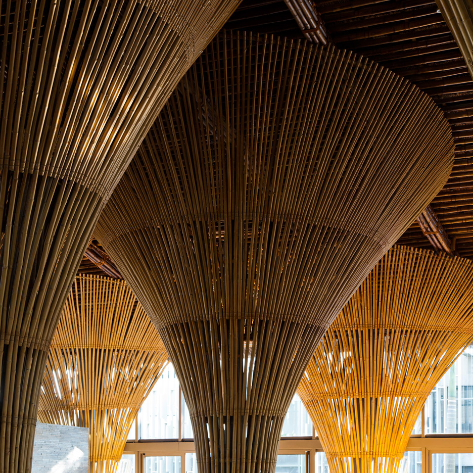 Vo Trong Nghia adds bamboo restaurant and beach bar to spa resort in Vietnam