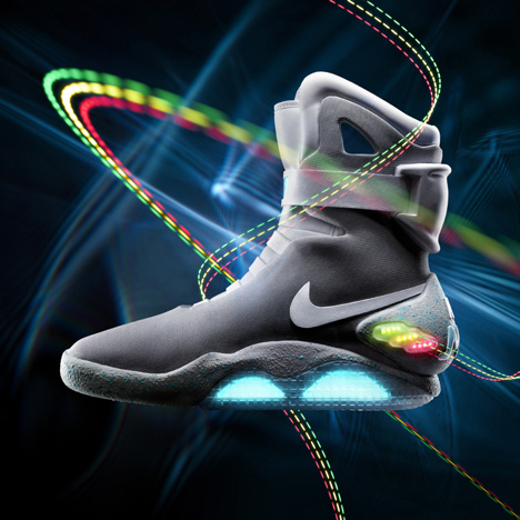 Back to the future Nike Mags shoes in NYC