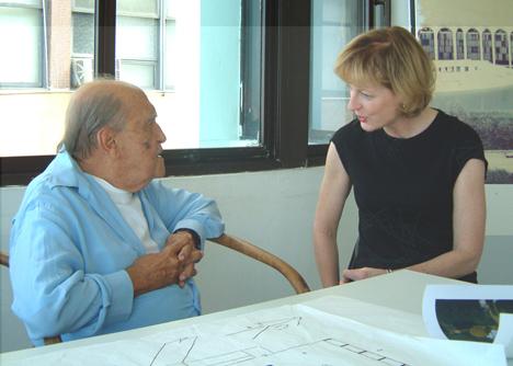 Oscar Niemeyer with Julia Peyton-Jones