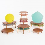 Lanzavecchia + Wai's PLAYPlay collection includes tables that stack like hamburgers
