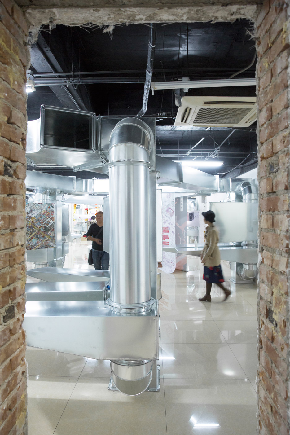 Tubular Baitasi visitor centre for Beijing Design Week 2015 by People's Architecture Office