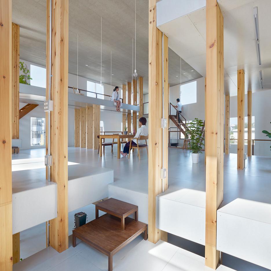 "Mamiya Shinichi Design Studio recreates ""feeling of being in a grove"" inside its own office"