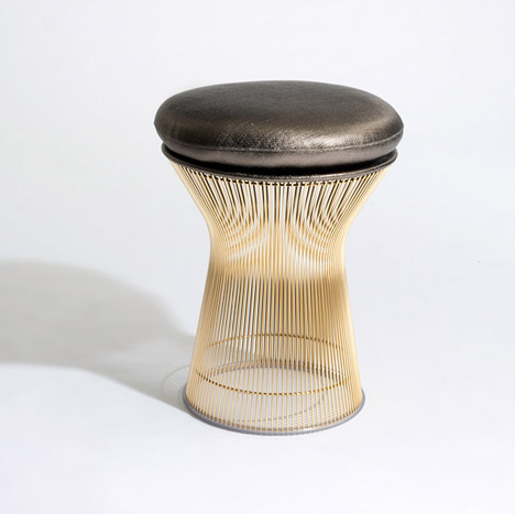 Platner and Bertoia in gold for Knoll