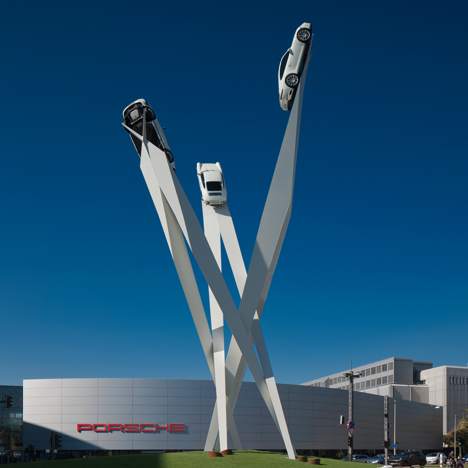 Porsche sculpture by Gerry Judah