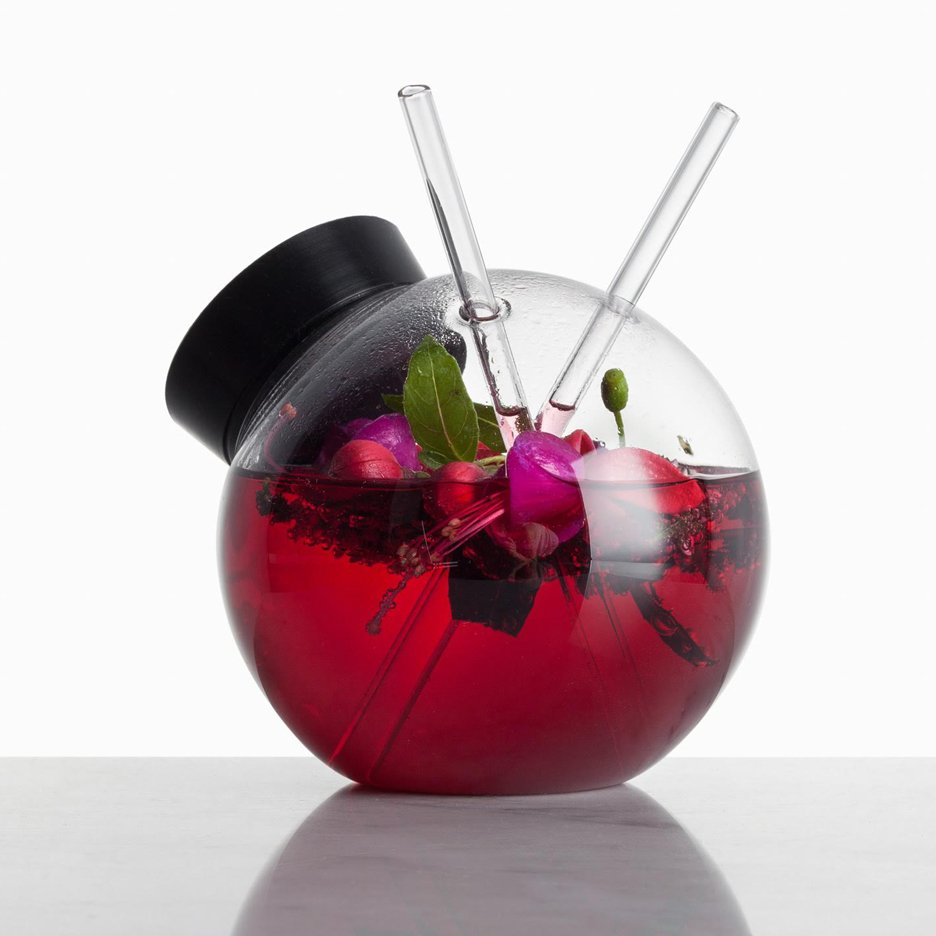 Martin Jakobsen designs spherical Quido cocktail glass