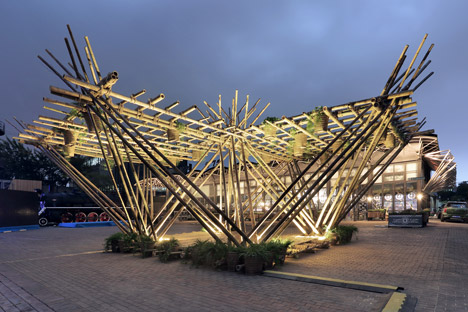 Penda's bamboo pavilion could be expanded to create homes for 200,000 people