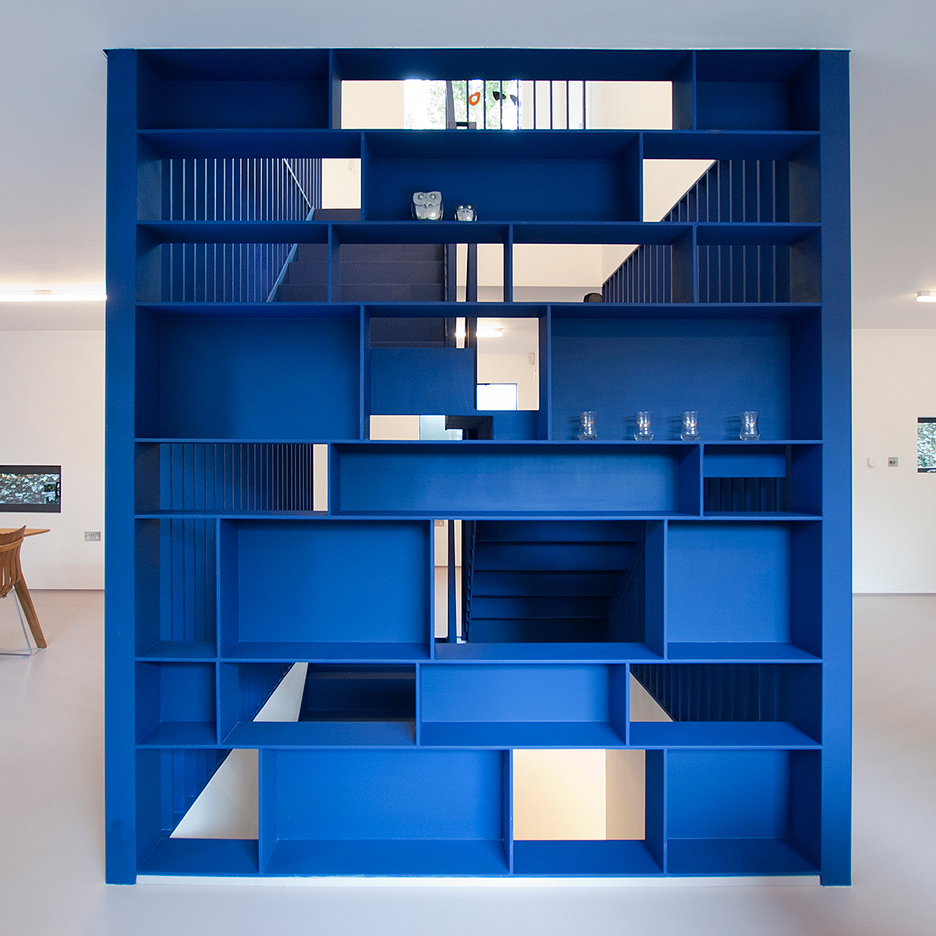 RA Projects inserts blue steel staircase into London house for Roksanda Ilincic