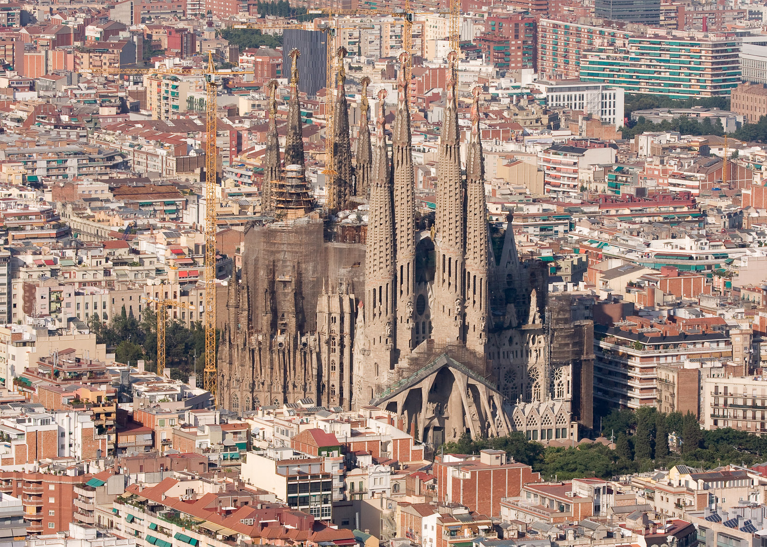 The Sagrada Família has been under construction for over 100 years