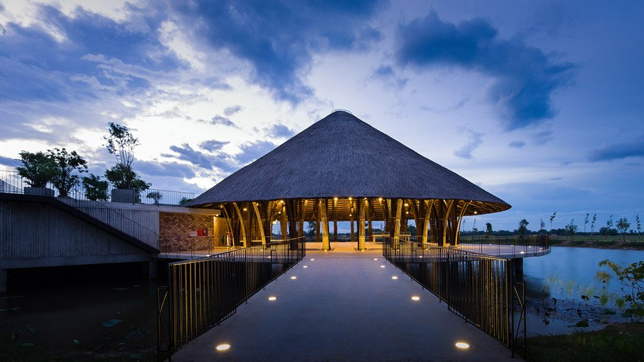 Sen Village Community Center by Vo Trong Nghia Architects