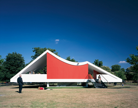 Serpentine Gallery Pavilion 2003 by Oscar Niemeyer