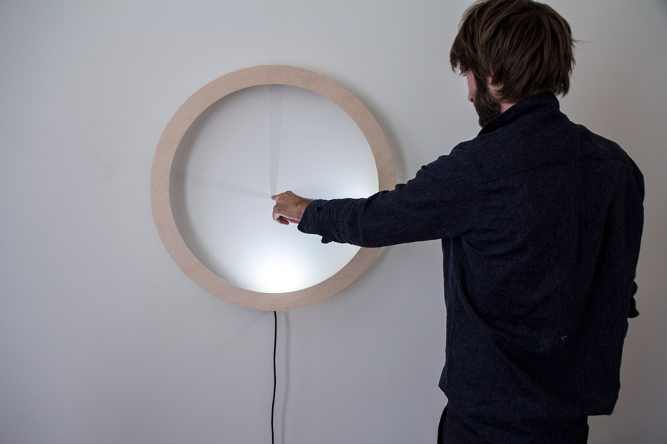 Breaded Escalope's touch-responsive clock tells the time with shadows