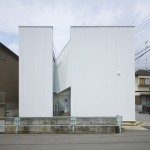 Alphaville's Slice of the City is a house cut into two uneven sections
