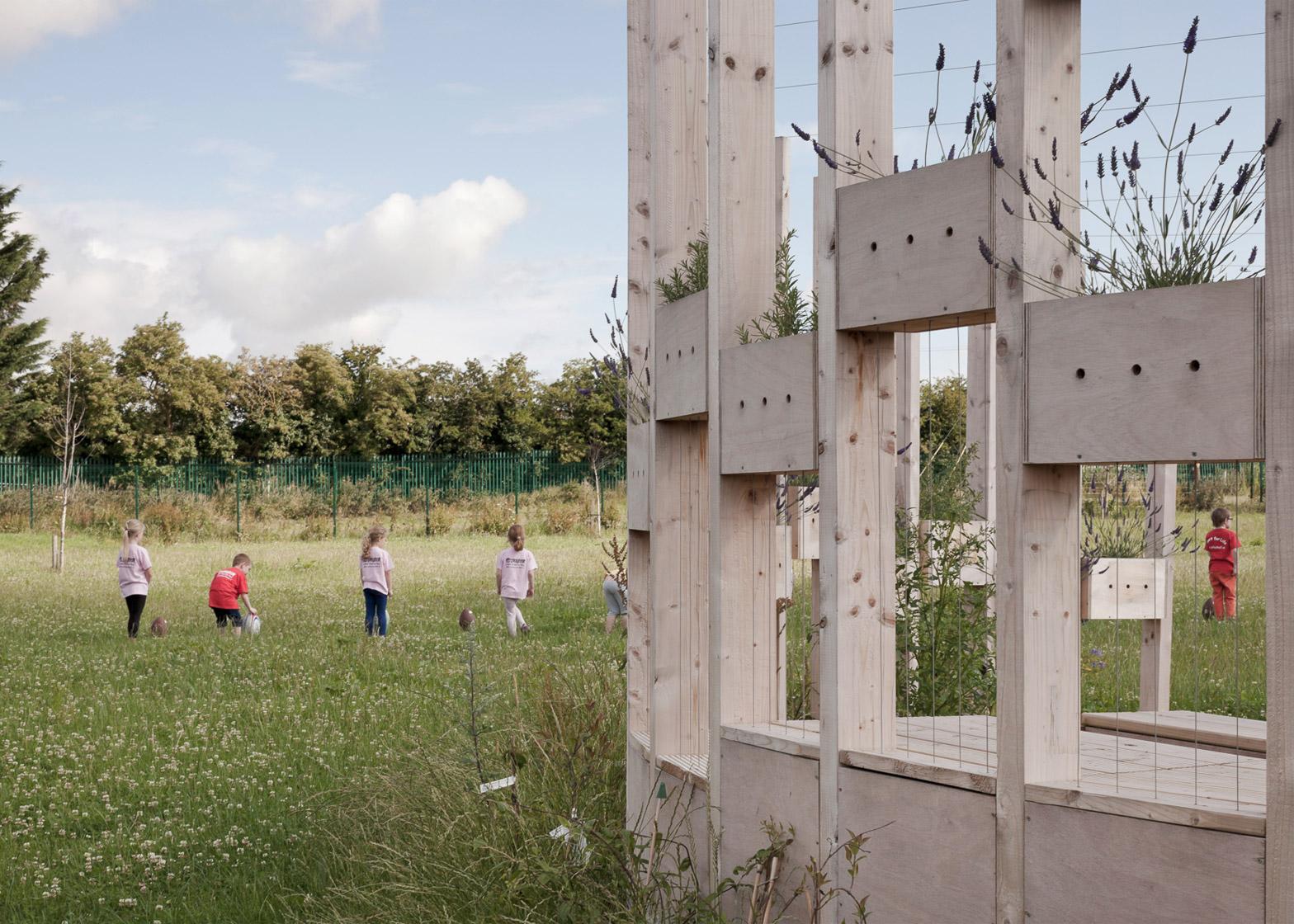 Hedge School educational pavilion by AP+E studio