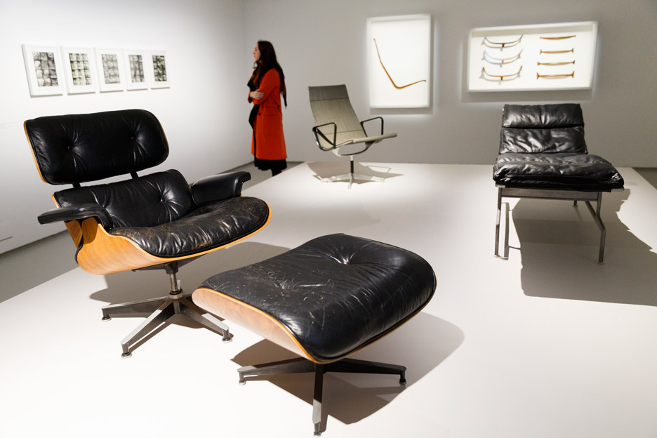 the world of charles and ray eames exhibition opens at the. Black Bedroom Furniture Sets. Home Design Ideas
