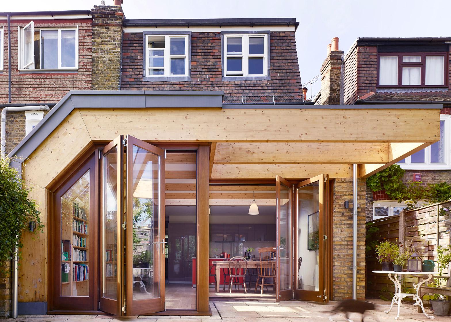 Timber exoskeleton house by Tate Harmer