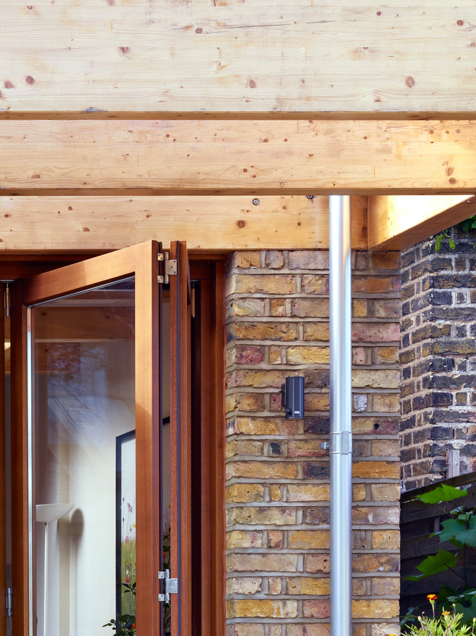 Timber House Extensions Tate Harmer Creates Timber Ribcage Around London Extension