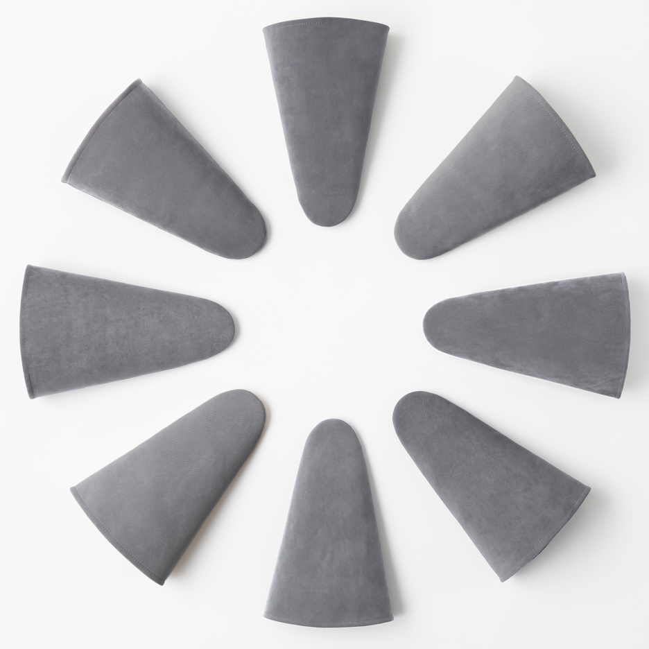 Nendo designs cone-shaped stackable slippers