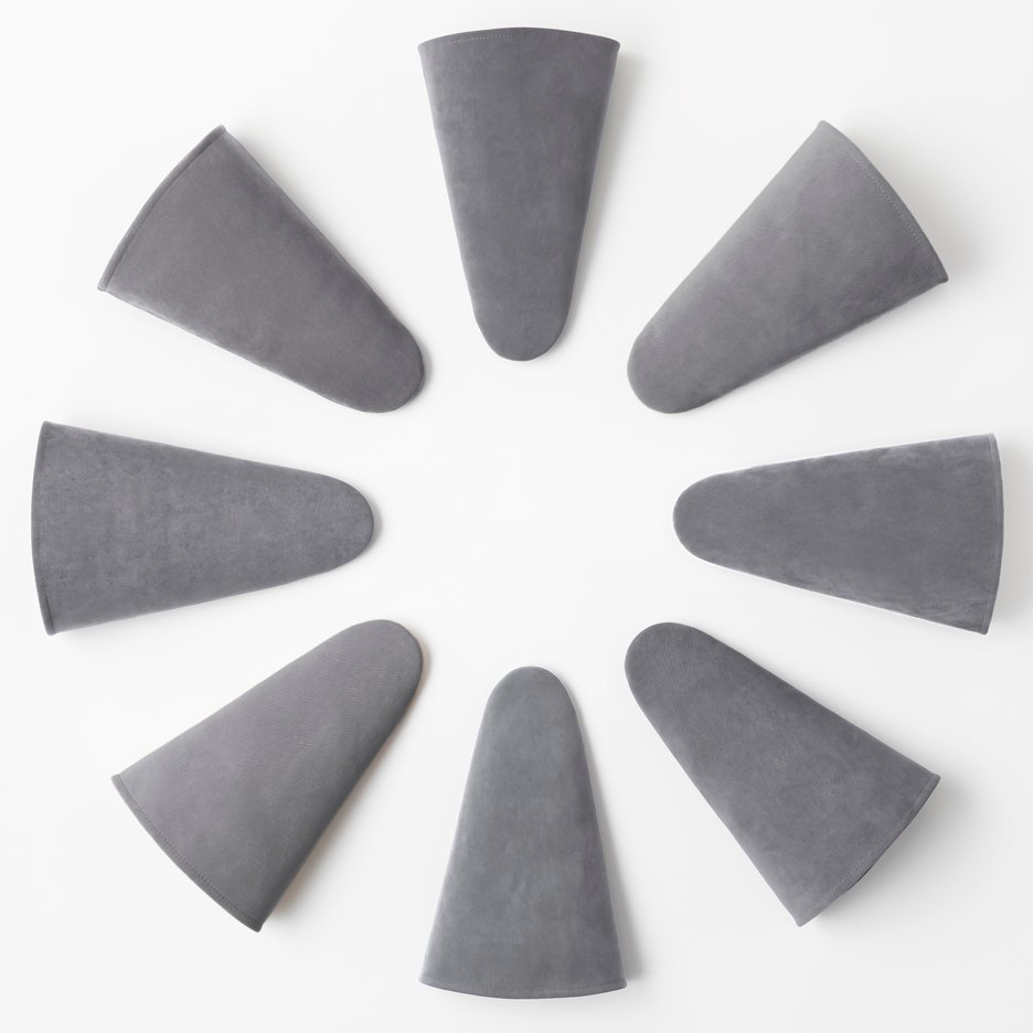 Triangular slippers by Nendo