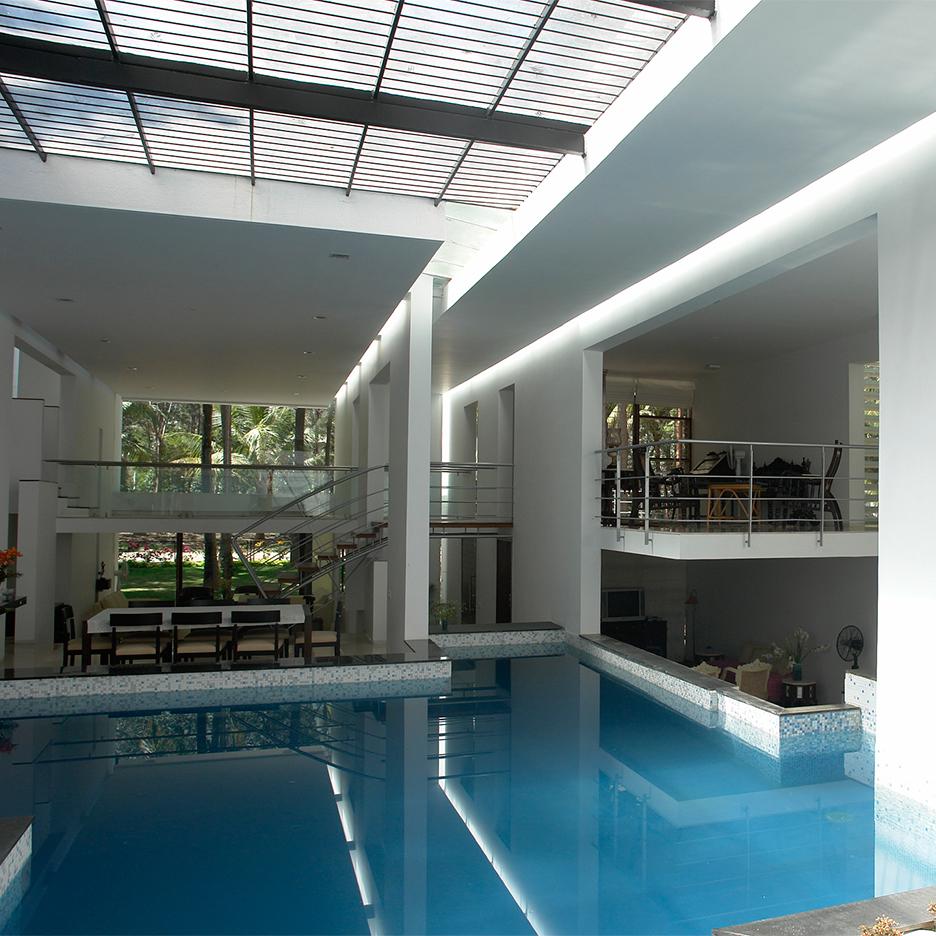 Tyagiu0027s House By Ochre Has Skylit Swimming Pool