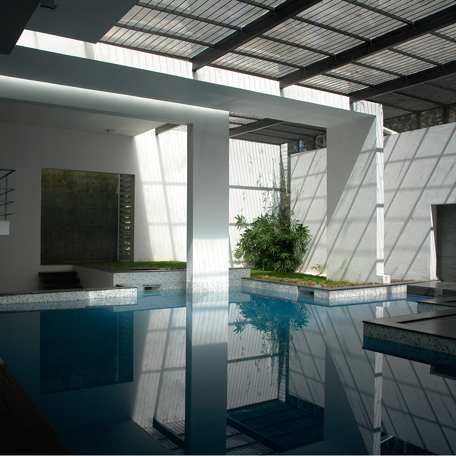 Skylit Swimming Pool Forms The Heart Of Bangalore Residence By Ochre Decor10 Blog