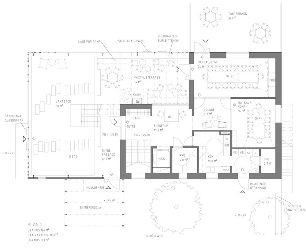 Inspirational Uppgrenna Nature House by Tailor Made Arkitekter Ground floor plan