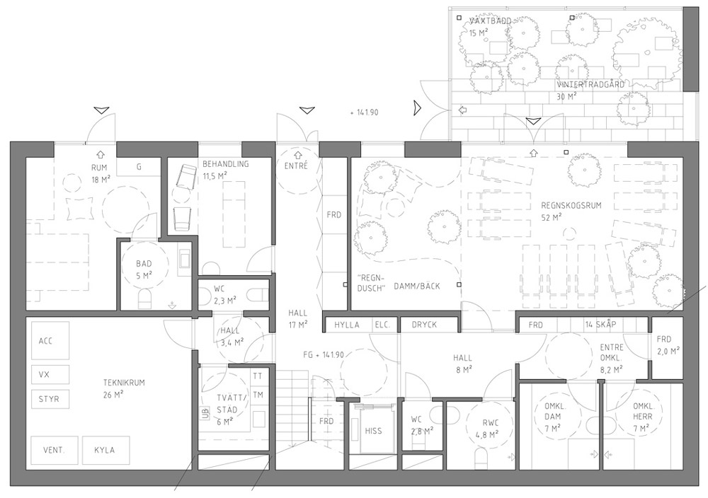 Marvelous Ground floor plan u click for larger image Uppgrenna Nature House by Tailor Made Arkitekter