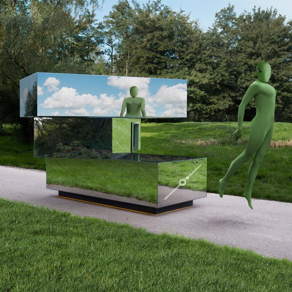 "Van Eijk & Van der Lubbe's mirrored concept car provides ""unobstructed views"" from inside"