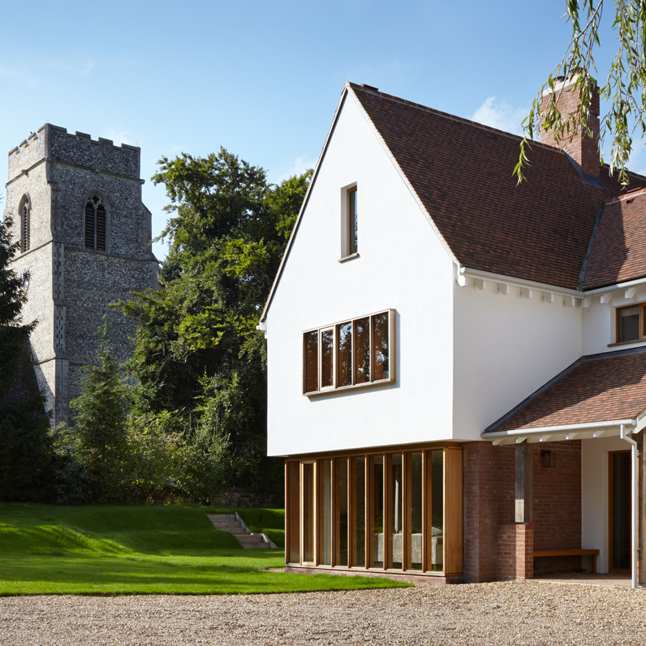 West Stow Lodge by Project Orange features a traditional exterior and a pared-back interior