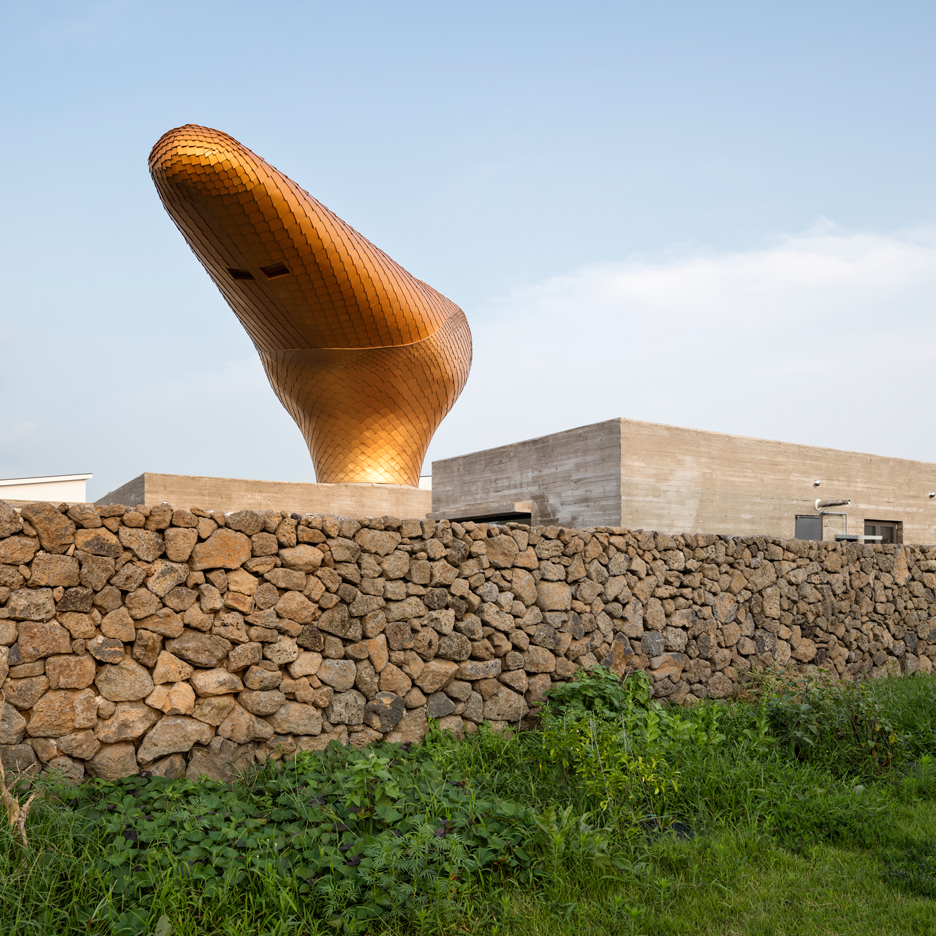 Golden observation pod tops Jeju island holiday cottages by Moon Hoon