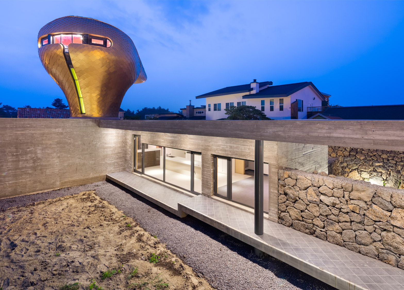 Wind House on Jeju Island by Moon Hoon