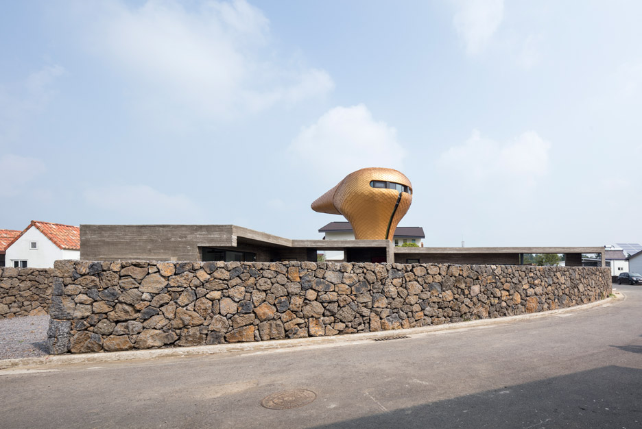 Wind House on Jeju Island by Moon Hoon