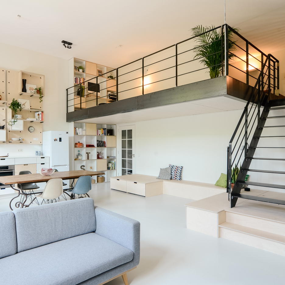 Loft Apartments: School Teachers' Lounge Transformed Into Contemporary Loft