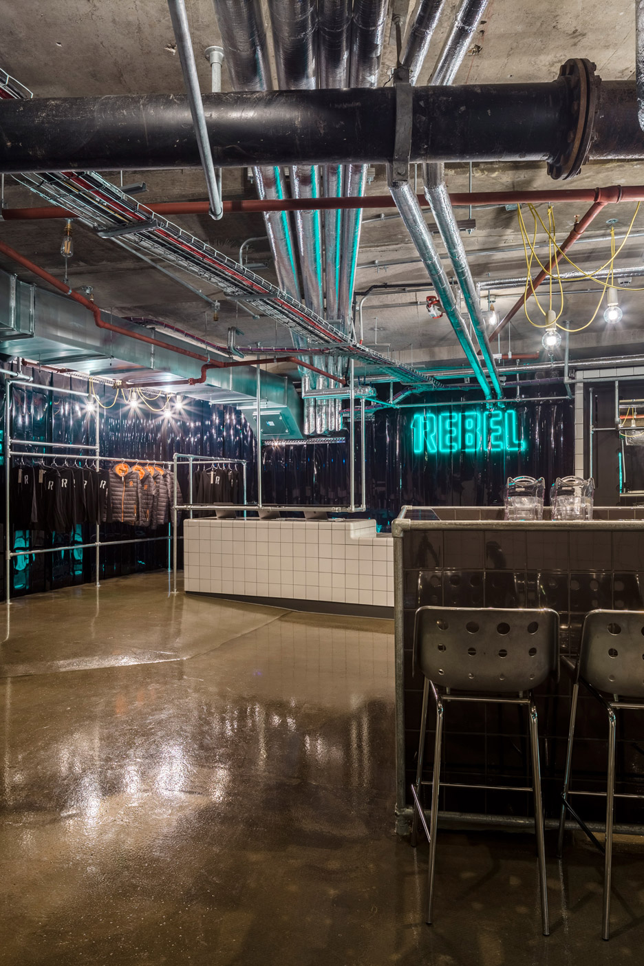 Studio C102 designs underground 1Rebel gym to look like a nightclub