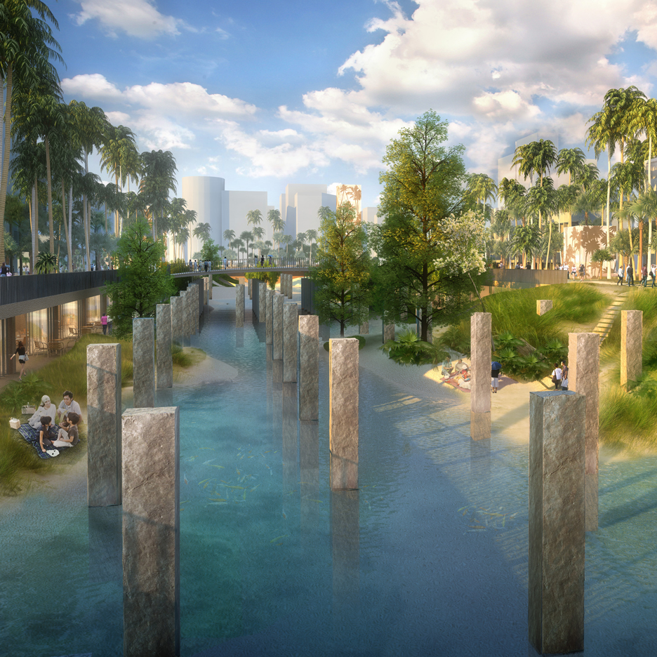 MVRDV unveils plans for sunken lagoon park in Taiwan