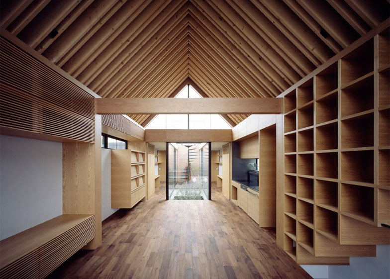 Apollo Architects ark inspired house has a symmetrical layout