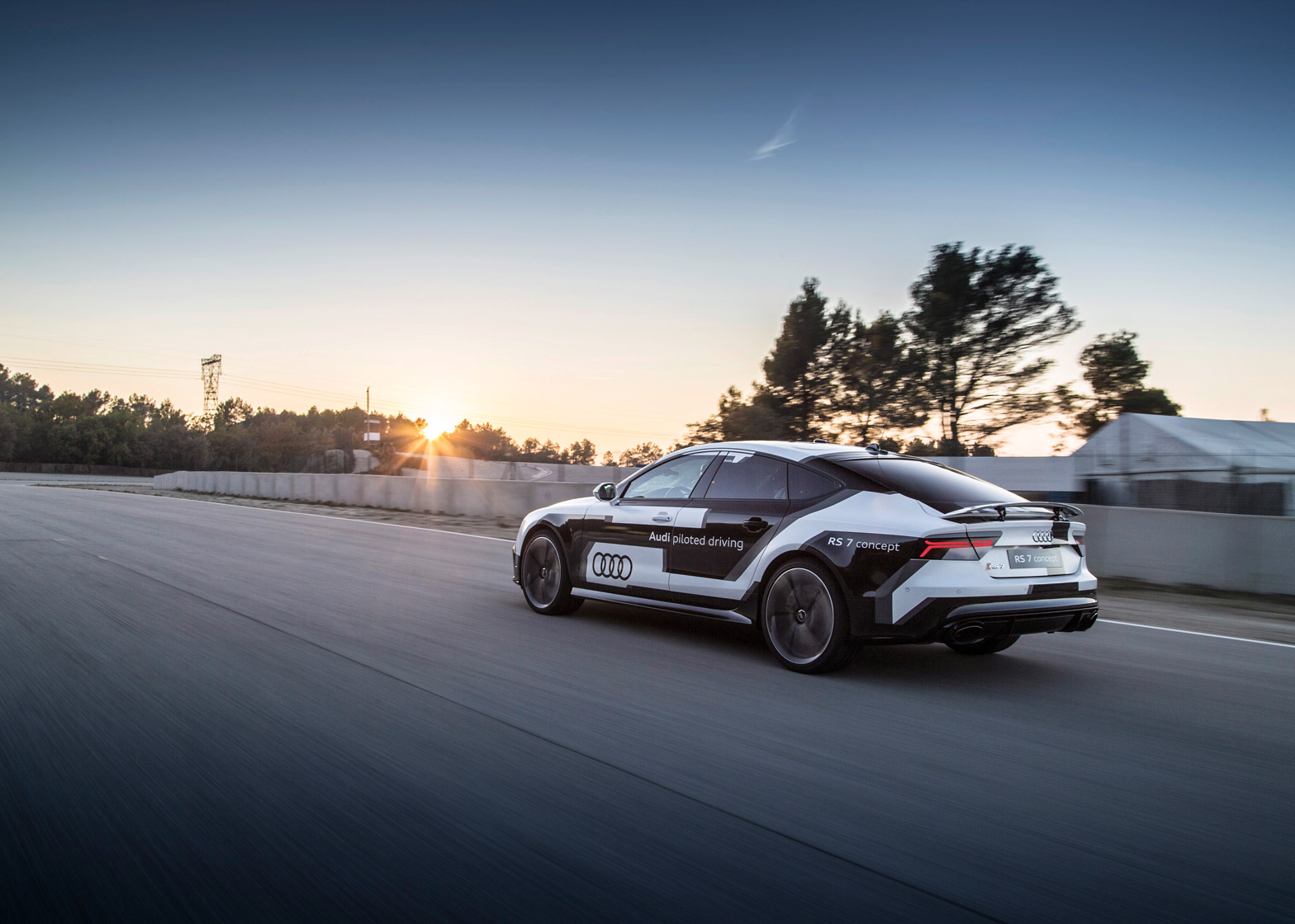 The Audi RS 7 can be equipped with the company's piloted driving concept