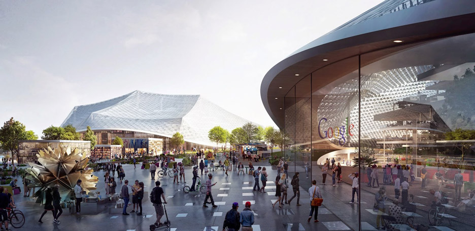 Robots will be used to construct BIG and Heatherwick's Google HQ in Mountain View, California