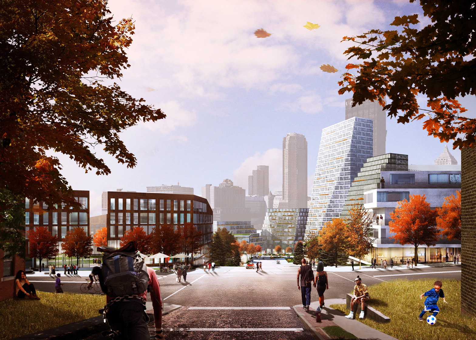 BIG's masterplan for the Lower Hill district of Pittsburgh