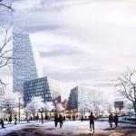BIG unveils design for urban neighbourhood on site of former Pittsburgh hockey arena